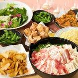 種類豊富な3時間飲み放題付ご宴会コースは3000円から多数ご用意!