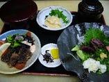 鯨料理の定食