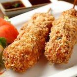 揚物・鮪 串かつ(タルタルソース/豚カツソース/レモン/辛子)