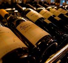 ■50種以上の厳選ワイン■