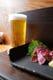一日の終りに、ホルモンとともに美味しいビールはいかがですか?
