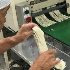 長年続く製麺所のこだわり「麺」