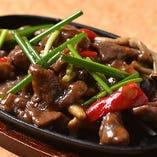 牛肉の柔らかさにも注目してください『牛肉の鉄板炒め』