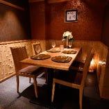 【椅子席 個室/2名様~4名様×3部屋】記念日のお祝いやデートにおすすめ!