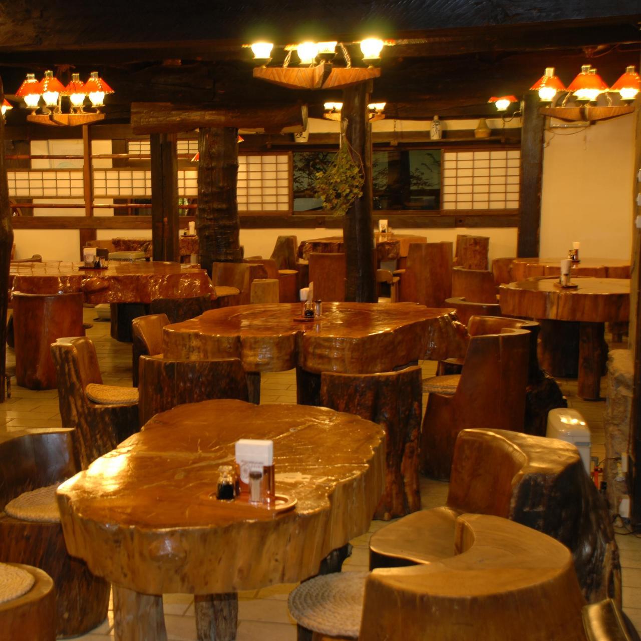 ◆風情のある丸太テーブル&椅子