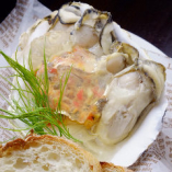 牡蠣と自家製ベーコンのタルタル