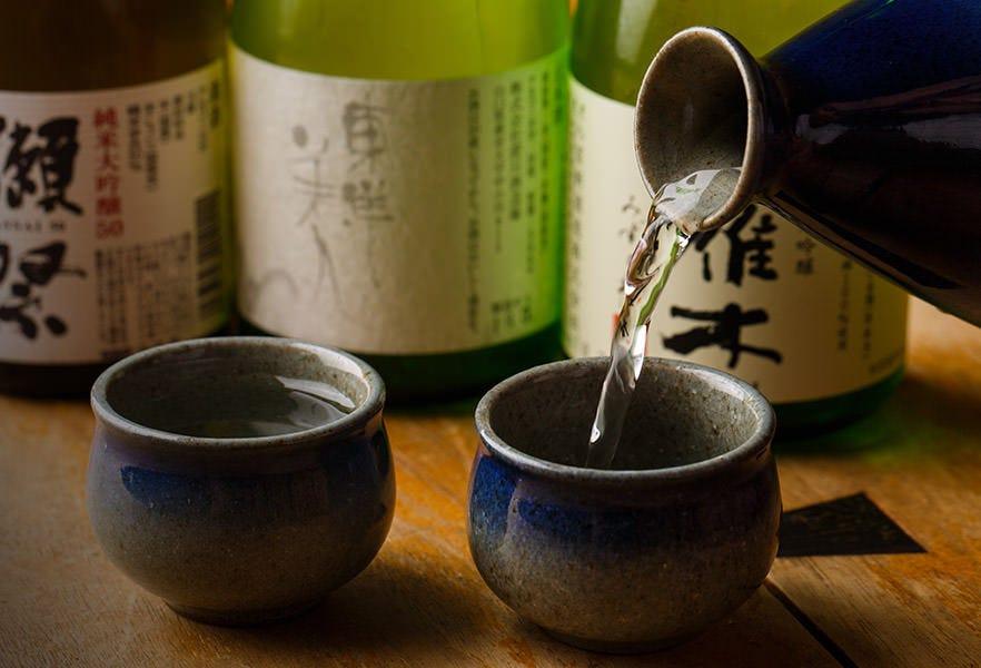 厳選した日本酒。 山口が誇る「獺祭」もございます!