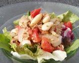 白インゲン豆とツナのサラダ