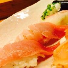 大将が目利きをしたお寿司