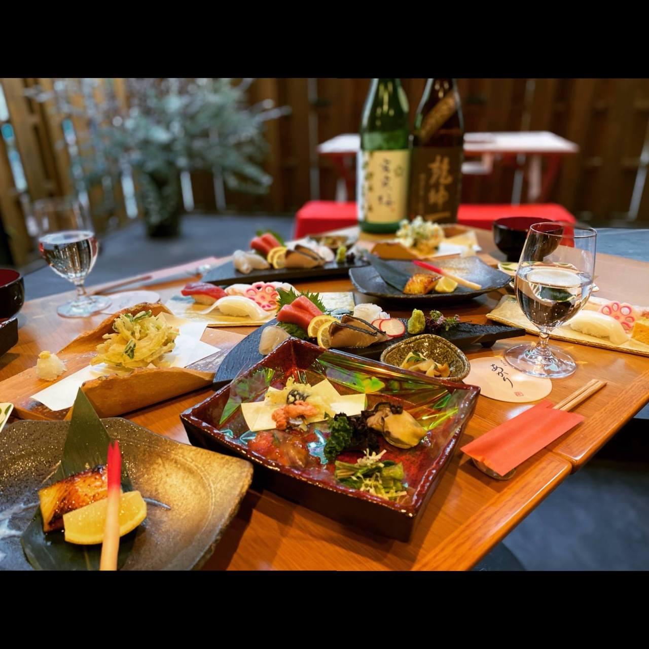 【~朱~あかり】東北の旬の食材を贅沢に使ったお料理9品5,800円
