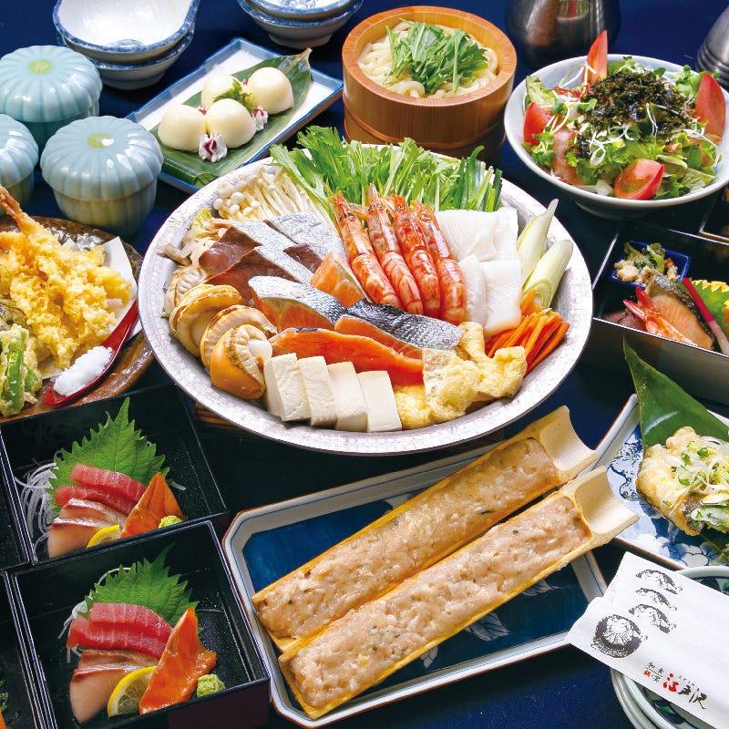 【特選】≪大関コース≫大漁海鮮ちゃんこ鍋全9品+2H飲み放題付き5990円
