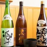 こだわりの日本酒をお料理に合わせてお勧めします。