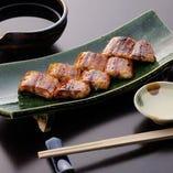 【宍道湖産 活鰻の蒲焼】都内では珍しい関西焼きにてご提供!!