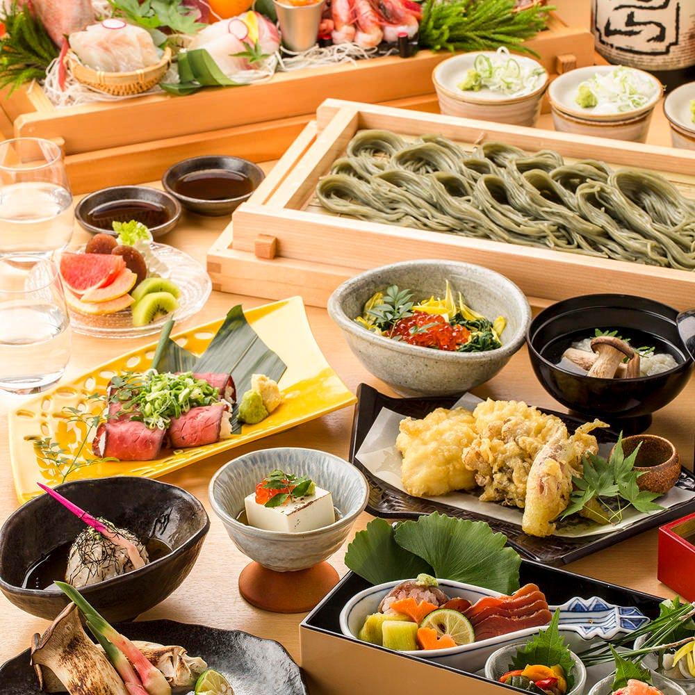 旬のご宴会コースは飲み放題付きで3000円よりご用意。