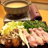 地鶏の水炊き鍋 白湯仕立て