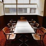 テーブル個室【8名様×1部屋、10名様×2部屋】高天井と広々スペースで開放感抜群