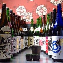 日本酒・焼酎のラインナップが充実!