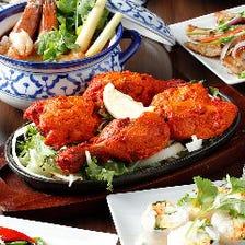 本場の料理人が腕を振るうアジア料理