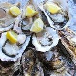 【牡蠣】 新鮮な牡蠣、時期限定の人気メニュー。