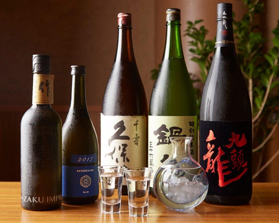 各地から厳選された他では味わえない日本酒をどうぞ。