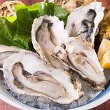 「岡山県産生牡蠣」ふっくら芳醇で濃厚な味わいの生牡蠣。美味しさの余韻に浸れる逸品です。