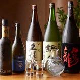 希少価値の高い季節限定の銘酒など、厳選のラインアップを約10種ご用意。