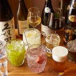 宴会コースは、2時間の飲み放題付き。日本酒やワイン、国産レモンを使用した自家製の生レモンサワーを含む多彩なドリンク、約20種以上をお楽しみいただけます。