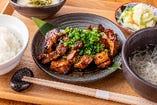 大麦三元豚 うま味噌焼き定食