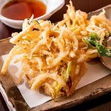 """旬食材を使用した""""創作的""""天ぷら"""