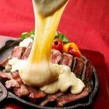 【特大ステーキ】 お肉好きにはたまらない☆ジューシーさがGOOD