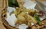 ひげにんにくの天ぷら