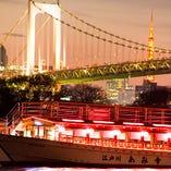 【絶景を堪能】 船上から眺める東京の景色を満喫