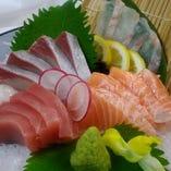新鮮魚のお造り