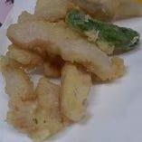 白肉(ミノ)の天ぷら
