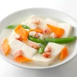 蟹肉と豆腐煮込み
