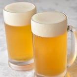 中華でもやっぱり人気の生ビール!コクと苦味が中華にピッタリ♪
