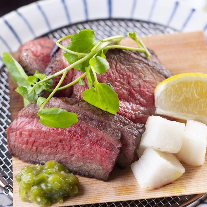 「瀬戸山麓牛」のステーキはおすすめの一品です。