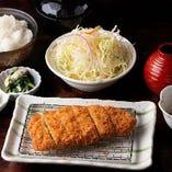 厳選国産豚のロースかつ定食 ~ソース・味噌・おろしポン酢~