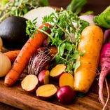 所沢の陽子ファームや西伊豆の自社農場で健康に育った野菜を使用