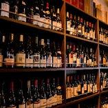 壁一面のワインが圧巻