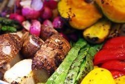 当店では契約農家から取り寄せた 有機野菜を使用しています。