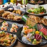 産直鮮魚をふんだんに使用した『魚介堪能旬菜コース』<全10品>