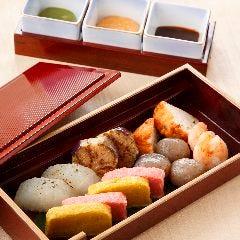 京町の三色味噌田楽盛り合わせ