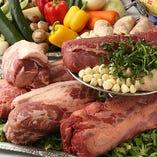 ビーフや魚貝・お野菜などとことんこだわって厳選した食材使用