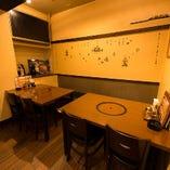 カフェのような雰囲気の半個室:10名様まで