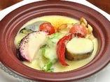 本日の野菜のグリルチーズソース