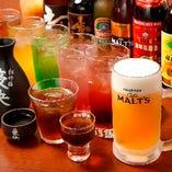 当店のコース料理では、お仲間が集まるシーンに最適な飲み放題付きプランにてご案内。定番のビールやサワーの他、紹興酒や果実酒などの中国酒もお楽しみ頂けます。お酒にうるさい上司の方も、お酒が弱いあの人もきっと満足!これで幹事様も安心です◎