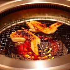 自分で焼く「鶏焼肉スタイル」!