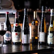 銘醸酒からナチュラルワインまで充実