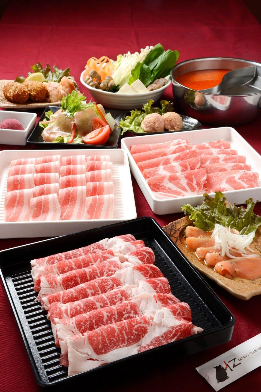 しゃぶしゃぶ食べ放題コースが2,680円~(税抜)